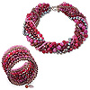 "Armband und Collier ""Red Hot"" (Set)"